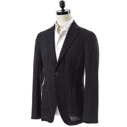 Navy Gingham Check Jacket