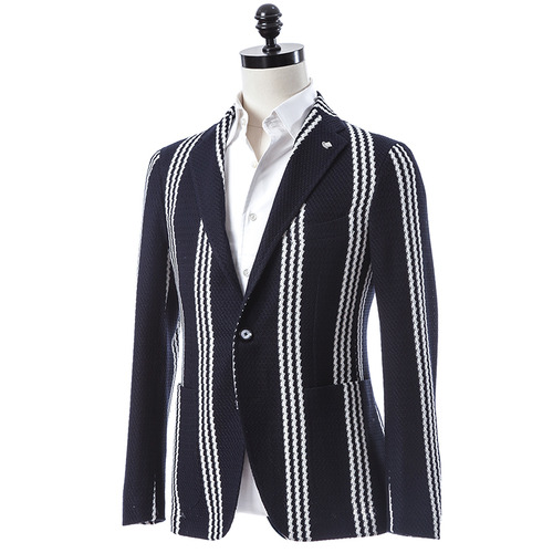 Stripe Navy x White Jacket