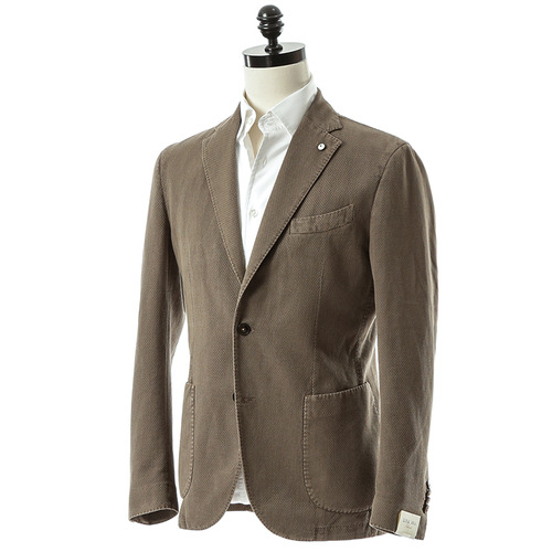 Brown Cotton Tweed Jacket