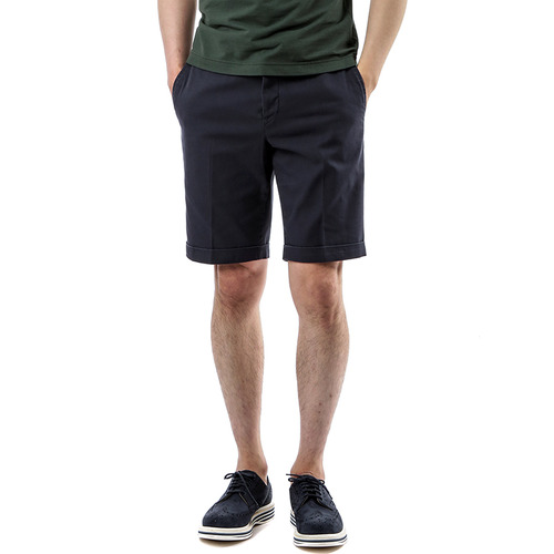 BERMUDA SHAKA Cotton Shorts (Navy)
