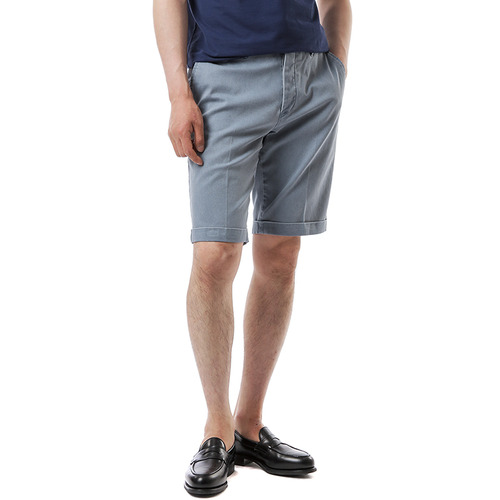 BERMUDA SHAKA Cotton Shorts (Sky Blue)