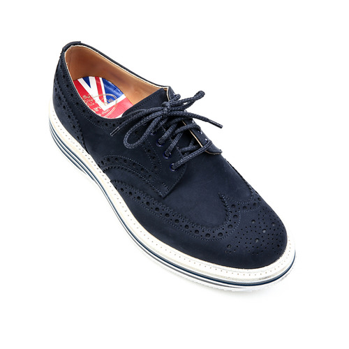 NABURN Brogue Navy Shoes