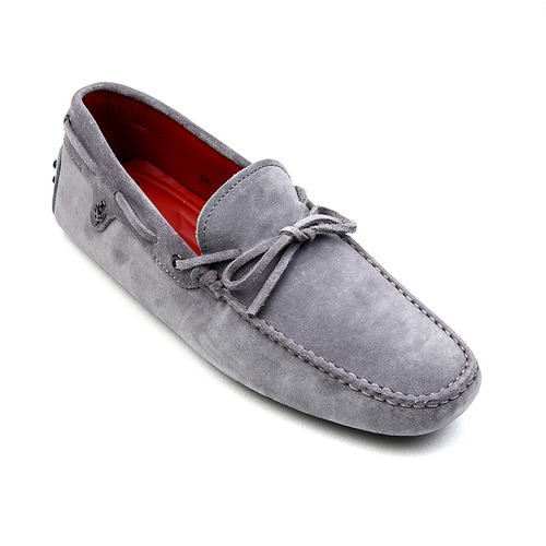 Tod's for Ferrari New Gommino Driving Shoes in Suede (Light Purple)