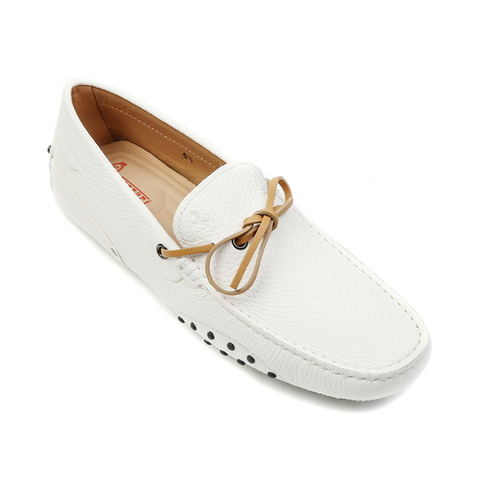 Tod's for Ferrari New Gommino Nubuck Driving Shoes (White)
