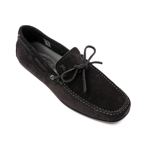 Laccetto city gommino Suede Driving Shoes (Black)