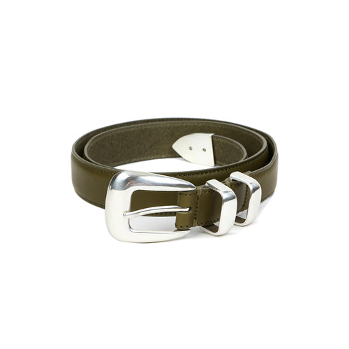 Olive Vagetable Leather Belt