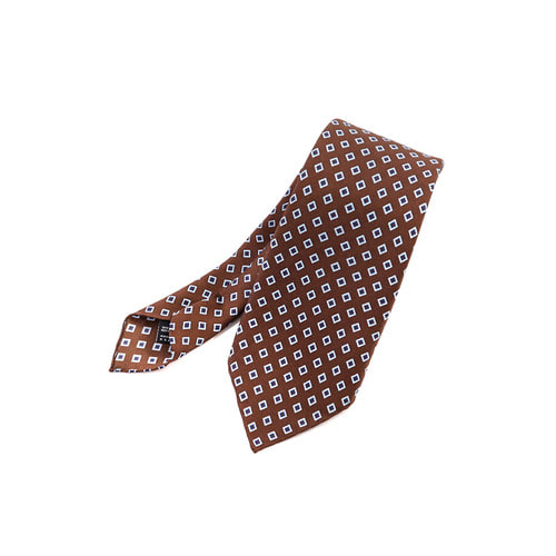 Diamond Mark Brown Tie