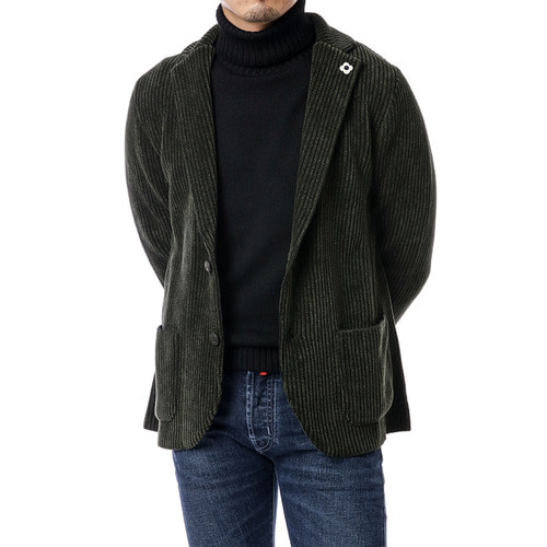 Dark Green Velvet Corduroy Jacket