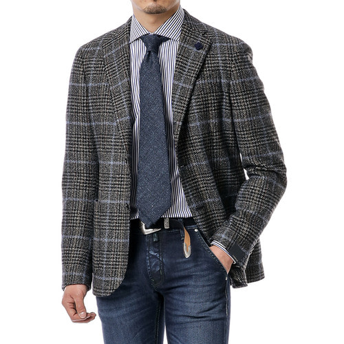 Brown Over Check Tweed Jacket