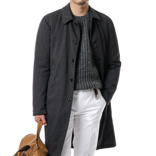 Charcoal Gray Reversible Coat