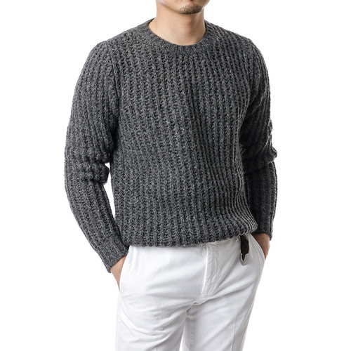 Gray Moss Mohair Knit