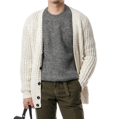 Ivory Moss Mohair Cardigan