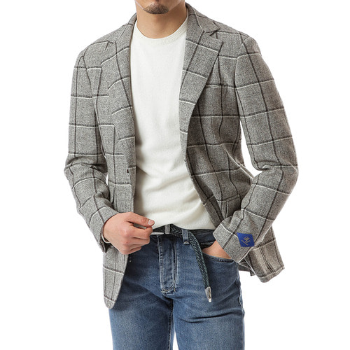 Gray Windowpane Jacket