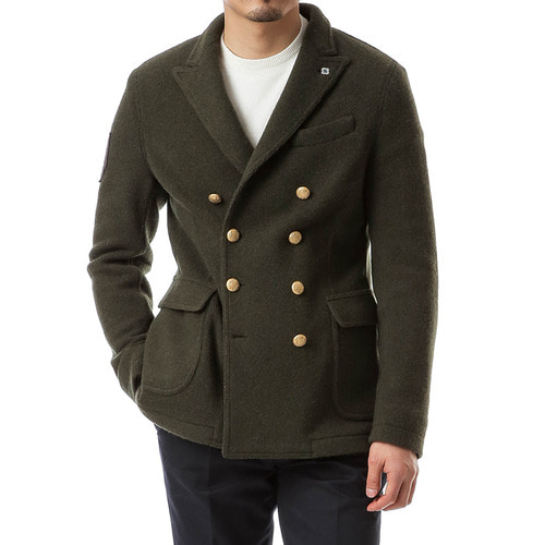 Mlitary Khaki Knit Double Jacket