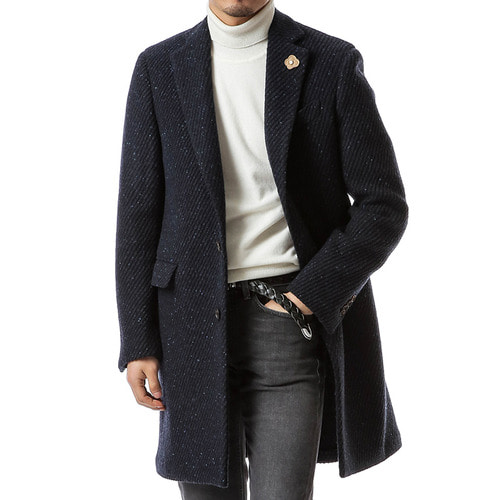 Navy Twill Homespun Coat