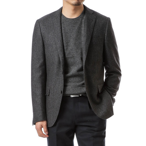 Charcoal Gray Diamond Check Jacket
