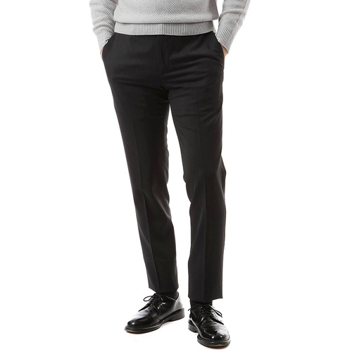 Charcoal Gray Simple Wool Traveler Pants
