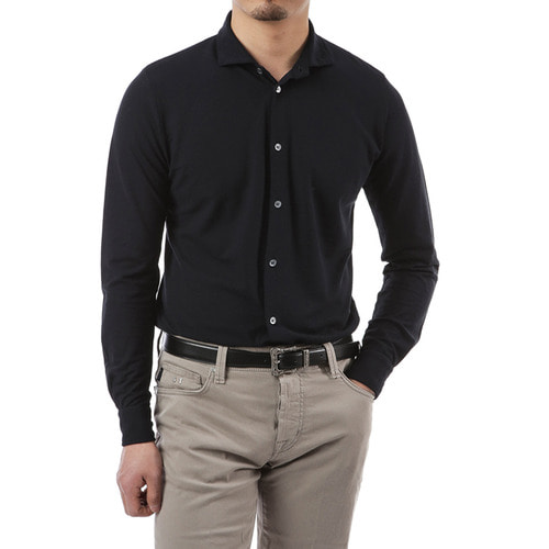 Navy ICE Zart Cotton Shirts