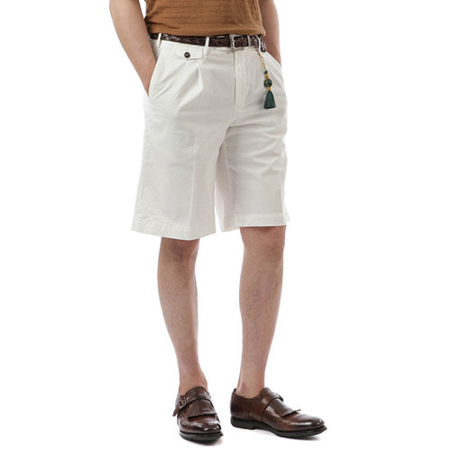 BERMUDA  Bombay Cotton Shorts (White)