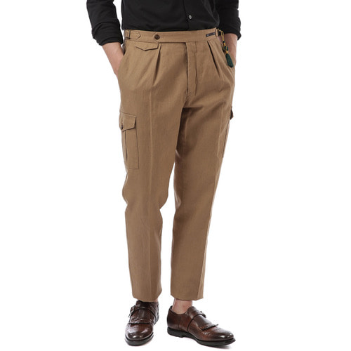 BOMBAY Gentleman Fit Linen Pants (Brown)