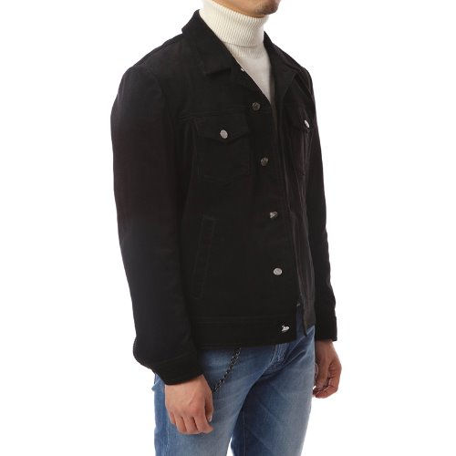 Black Corduroy Trucker Jacket