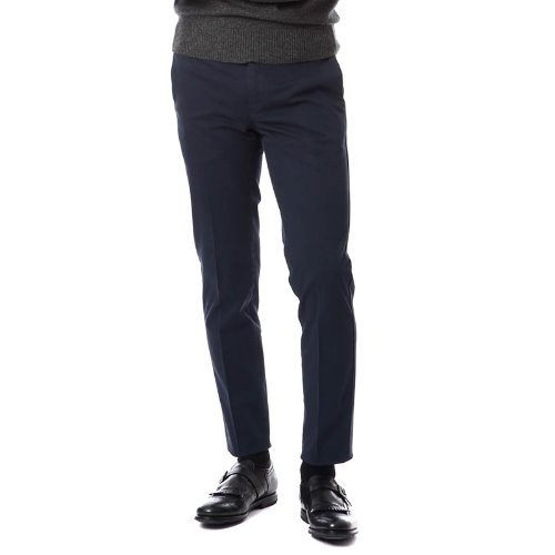 ELEGANCE. Skinny Fit Nano Block Stretch Pants (Navy)