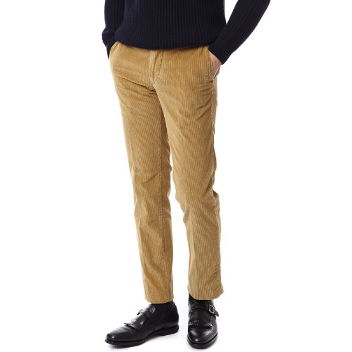 Midnight. Slim Fit Corduroy Mustad Pants