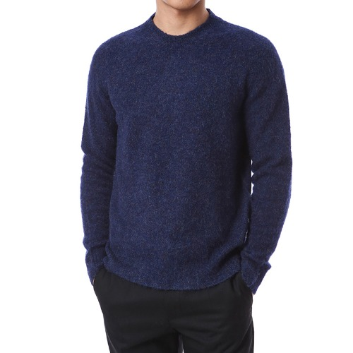 Mohair Soft Round Wool Knit (Violet)
