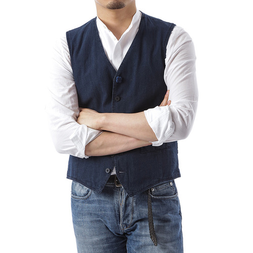 Washed Vest (Navy)