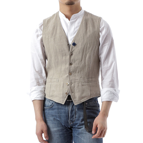 Washed Vest (Beige)