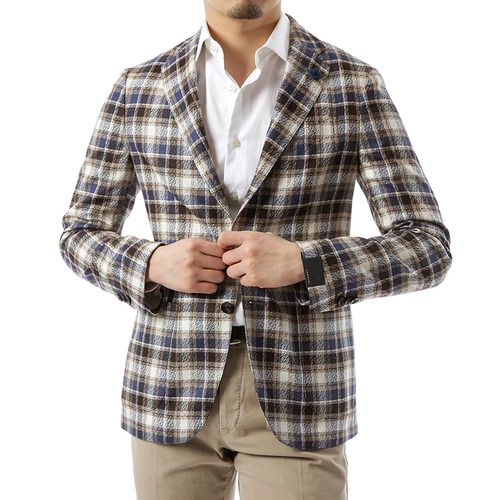 Silk Multi Check Jacket