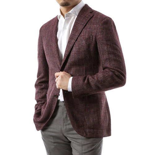 Burgundy Tweed Jacket