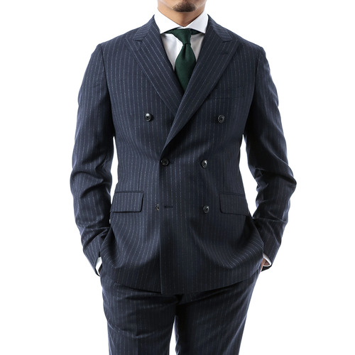 Navy Stripe Doublebreast Suit