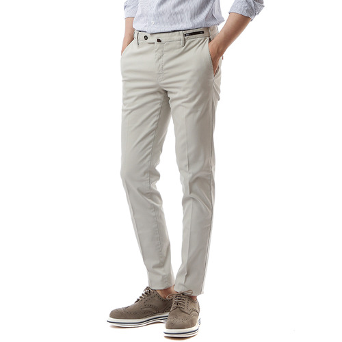 Skinny Stretch Pants (Light Beige)