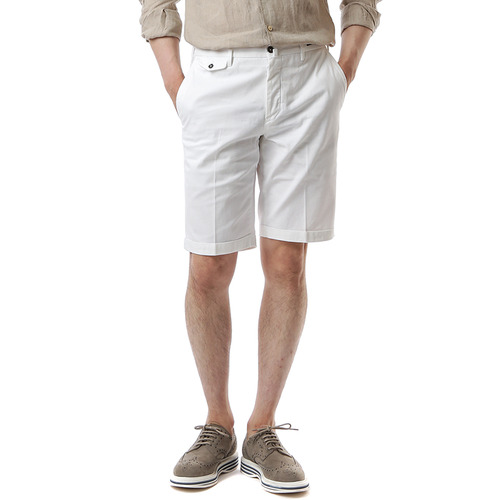 BERMUDA SHAKA Cotton Shorts (White)