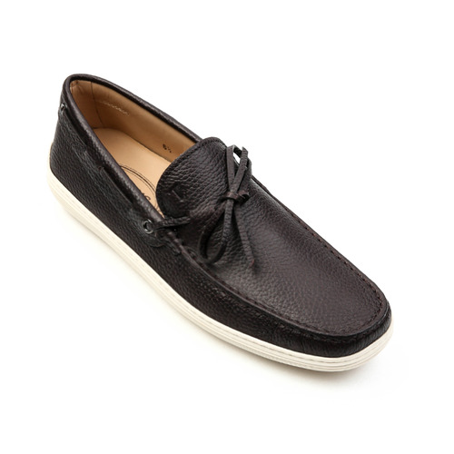 Shrunken Leather Moccasins (Black)