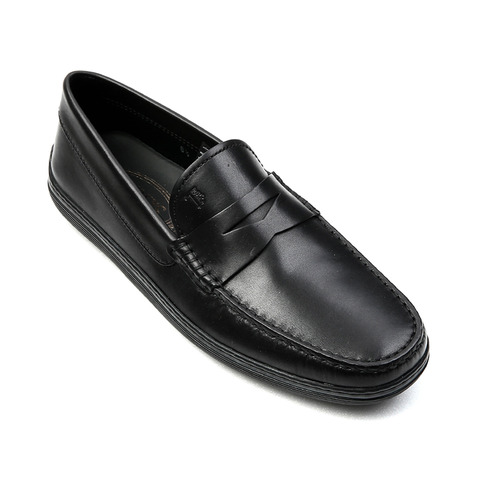 Leather Moccasins (Black)
