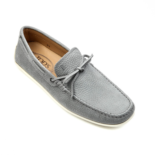 City New Gommino Moccasins in Nubuck (Gray)