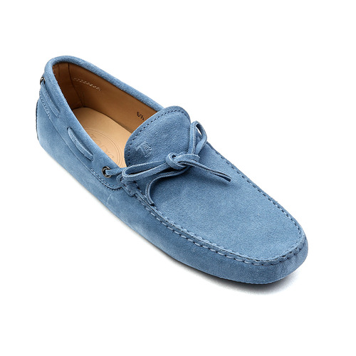 New Gommino Driving Shoes in Suede (Light Blue)