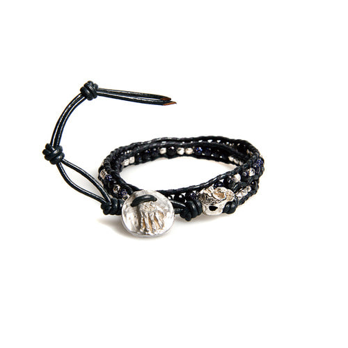 Skull Gemstone Layered Bracelet