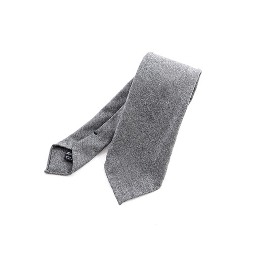 Wool Solid Gray Tie
