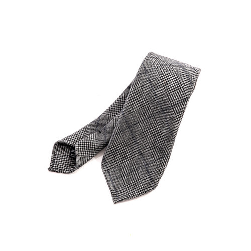 Glen Check Gray Tie