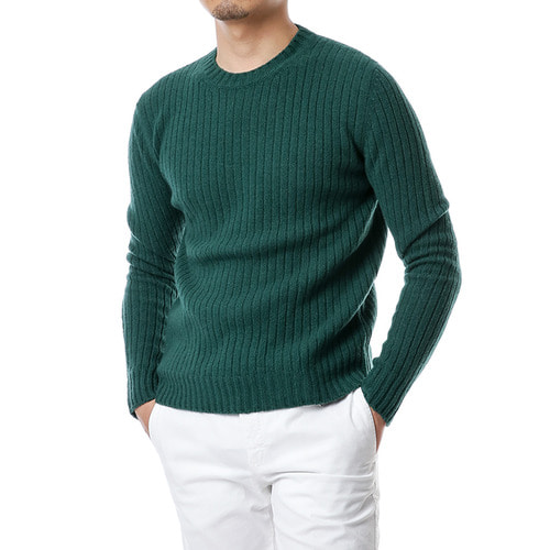 Ribbed Cashmere&Wool Knit (Green)