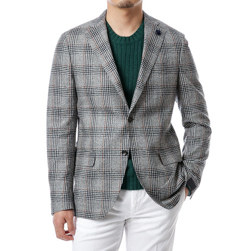 Gray Special Glen Check Jacket