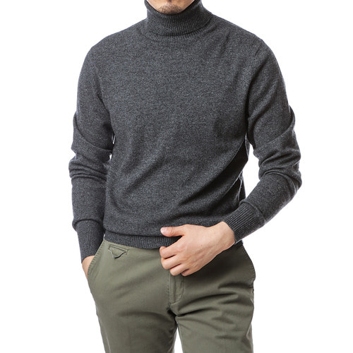 Purity Gray Turtleneck