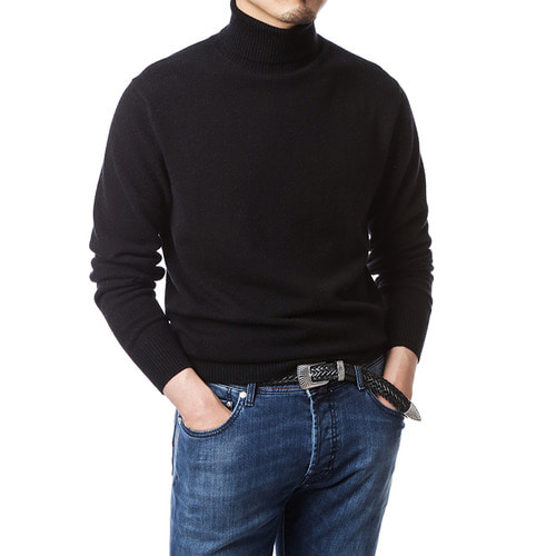 Purity Black Turtleneck