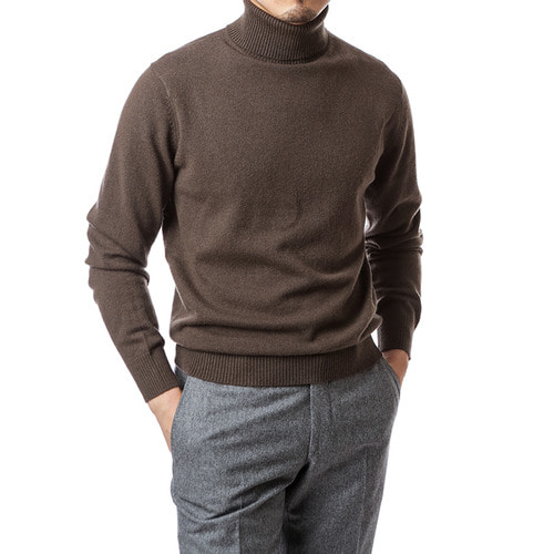 Purity Dark Brown Turtleneck