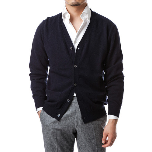 Navy Formal Cardigan