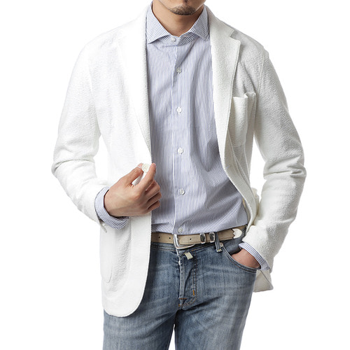 White Terry Knit Jacket