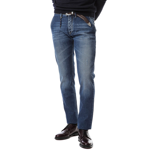 Denim Core Skinny Fit Side Pocket (Medium Blue)